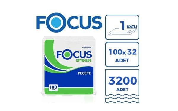 Focus Optimum Kare Servis Peçete (32 Paket)