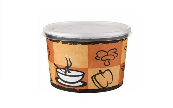 Karton Çorba Kase ve Kapak (50 Adet)