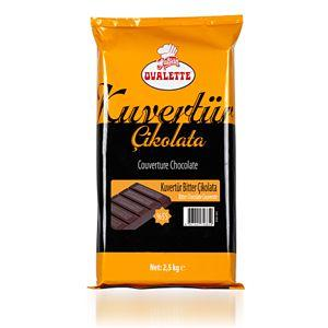 Ovalette Kuvertür Bitter Çikolata 2500 Gr