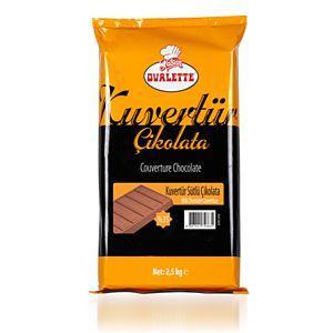 Ovalette Kuvertür Sütlü Çikolata 2500 Gr